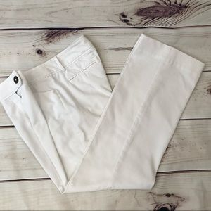 NINE & CO White Wide Leg Pant With Bling Button